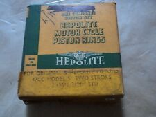 NORMAN NIPPY BOWN SACHS 47cc MOPED 50 PISTON RING SET STANDARD 38mm HEPOLITE NOS