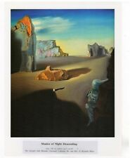 "SALVADOR DALI  Print Book Plate 9x12-- ""Shades of Night Decending"" 1931"