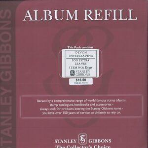 Stanley Gibbons Devon Peg Accessoire Transparent Entrelacement Album Recharge