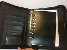Vintage Franklin Quest Black Planner Journal Calendar 1.5 in rings CL12215