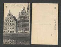1910s GAND Les Maisons des Measureurs de Grains et des Bateliers BELGIUM PCARD