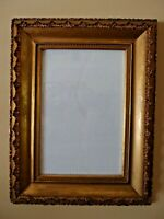 Antique Gold Gilded Gesso Picture Frame