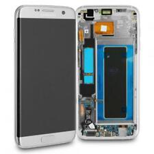 Original Samsung Galaxy S7 EDGE G935F Display LCD Touchscreen Rahmen - SILBER