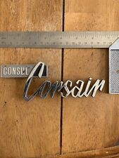 "Vintage Original ""Ford Consul Corsair"" Script Car Badge"