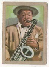 "1840s ""Adolphe"" Sax  Invents Saxiphone Musical Instruments Vintage Trade Card"