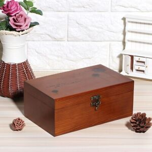 Household Vintage Wooden Sewing Box Needle Thread Storage Case Organizer DI New