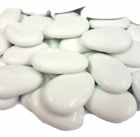 White, Flat Glass Pebbles / Nuggets / Stones / Beads
