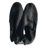 Slip On Aqua Sock Water Shoe Hiking Sz 10/11 Breathable Black Rubber Soles Mesh