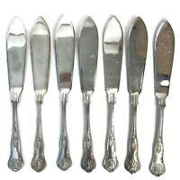 7 Newbridge Restaurant Ware Kings Shell Pattern Fish Knives Silverplated EPNS