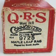 More details for qrs pianola word roll: maple leaf rag hand played by scott joplin c1916!