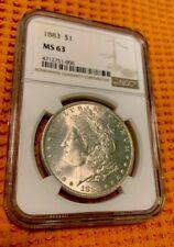 1883 Morgan Silver Dollar NGC MS-63 • Free Shipping