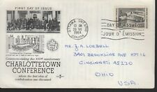 Canada - Charlottrtown Conference - 431 Fdc - Rose Craft Cachet - 1964