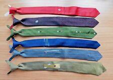 Vtg 1960s Era Mens Skinny Necktie Lot of 6