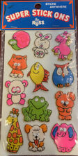 Vintage stickers RUSS Super Stick Ons Puffy Google Googly Eye 1979 Sealed