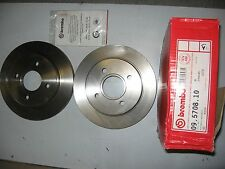 PAIR OF BREMBO REAR BRAKE DISCS 09.5708.10 TO FIT FORD MONDEO/COUGAR