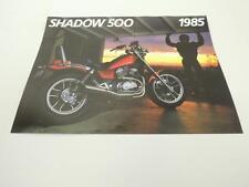 NOS 1985 Shadow 500 VT500C VT500 Honda Dealer Brochure L42