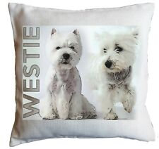 WESTIE Dog GIFT Cushion. West Highland Terrier Pillow. Can be personalised