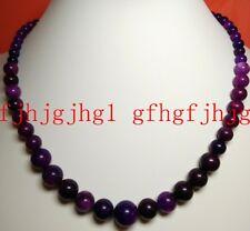 Natural PURPLE 6-12MM AFRICA SUGILITE GEMS ROUND BEADS Gemstones Necklaces 18''