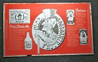 Olde Frothingslosh Fatima Pittsburgh Red Tin 1 Unrolled Beer Can Flat Sheet Vtg