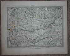 Original antique map INDIA, GUJARAT, PUNJAB, MALWA, RAJ,  SDUK, 1846
