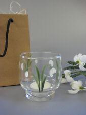 Snowdrop Design Votive Vase - Individually Hand Painted