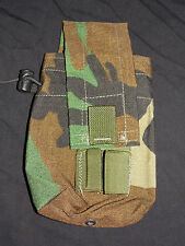 U.S. Military R.A.C.K. MOLLE Woodland Double Mag Pouch w/ Shotgun Shell Holder