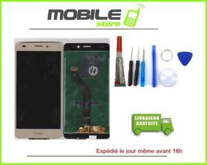 Vitre Tactile + Ecran LCD Pour HUAWEI Honor 5C couleur gold/or + outils + Colle