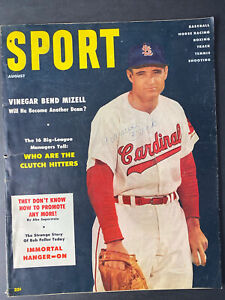 Sport Magazine Aug 1956 Ford Frick, MLB Clutch Hitters, Boxing, Olympic Track...