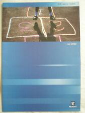 Peugeot 806 Special Models brochure Jul 2000