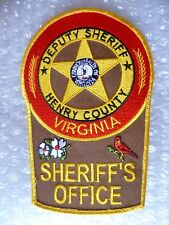 Patch- Henry County Deputy Sheriff Virginia US Police Patch (New* apx.135x90mm)