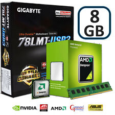 AMD 145 CPU 8GB DDR3 GIGABYTE 78LMT-USB3 MOTHERBOARD WIFI GAMING UPGRADE BUNDLE