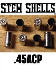 "(8) ""STEM SHELLS®"" Brand .45 ACP Nickel Bullet Shell Valve Caps TPMS"