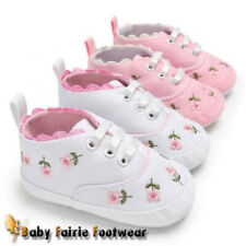 Infant Baby Girl Floral Crib Shoes Soft Sole Anti-slip Sneakers Canvas