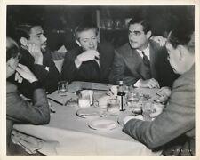 PAUL MUNI Producer SID ROGELL Vintage 1936 CANDID Hollywood Dinner RKO Photo