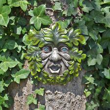 Tree Ent Face Leaf Plaque Wall Garden Ornament Greenman Myth Leafpeeper 80609