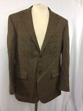 Nautica Men Brown Houndstooth Check Sport Coat Casual Jacket Wool Blazer 42 R