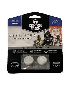 KontrolFreek Destiny 2 Thumbsticks for PS4 PS5 New White Guardian FPS Freek