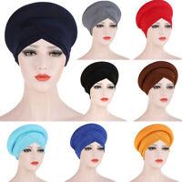 Women Chemo Cap Hijab Turban Muslim Bonnet Hat Headscarf Wrap Hair Care Cover