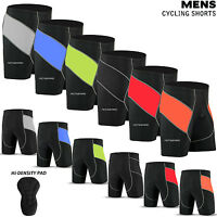 Mens Cycling Shorts Lycra Tights MTB Cycle Bicycle Hi-Density Padded All Sizes