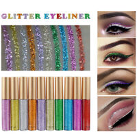 Waterproof Sparkling Glitter Liquid Eyeliner Metallic Shimmer Eyeshadow Cosmetic