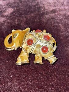 Teardrop Rhinestone Ear,Gold Tone Vintage Oleet Elephant Brooch Republican Emerald Green Rhinestone Eye Pin Designer Brooch