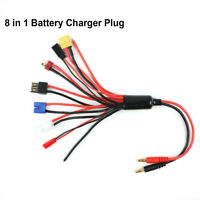 Multi 8 in 1 Ladegerät Adapter Stecker Splitter Kabel für RC Lipo Batterie