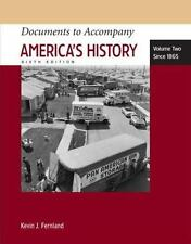 Documents to Accompany America's History, Vol. 2: Since 1865, 6th Edition