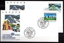 United Nations / Geneva office - 1992 Unesco cultural heritage Mi. 210-11 FDC-2