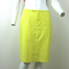 ROXY for Quicksilver Bright Yellow Straight Skirt Junior Size 9 Slit Front Back