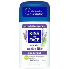 Kiss My Face Active Life Deodorant, Lavender 2.48 oz
