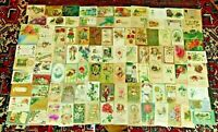 Lot of 102 Antique Holiday Postcards  Quality!  Santa NY Vday Bday Easter Tday 3