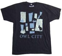 Owl City Bunnies Rabbits Image Black T Shirt New Official Soft