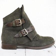Neuwertig! MARTINA BURARO ☀ Damen Stiefeletten Gr. 37 Leder Grau Boots Shoes