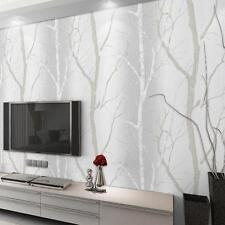 Hot Birch Tree Woods Wallpaper Roll Textured Art Natural Wall Paper Home Decor